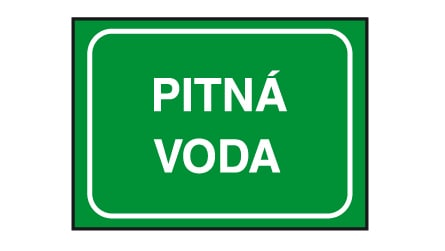 The sign for the potable tap water in Slovakia